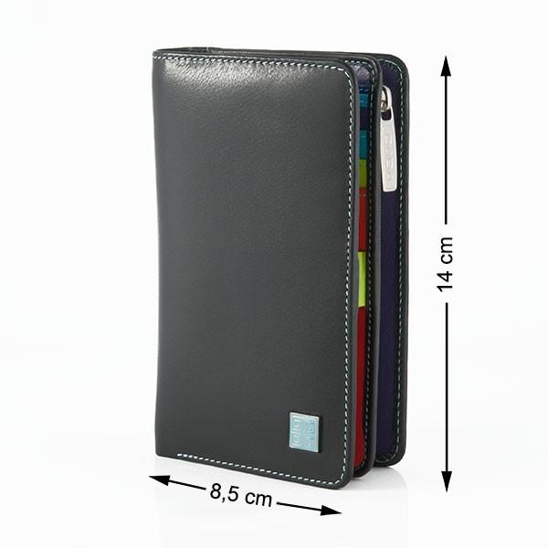 DuDu® 534-1164 Geldbörse Geldbeutel Echt Leder Portemonnaie Portmonee Damen
