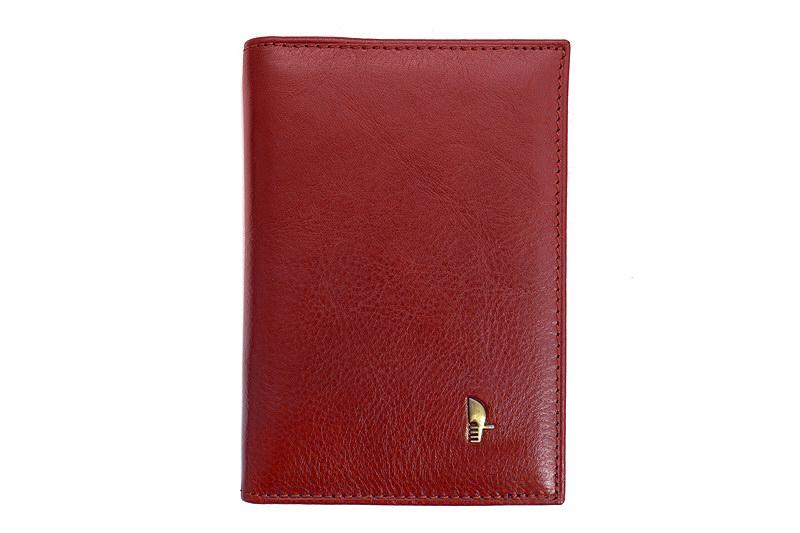 32509cb12cf54 Skórzane etui na dokumenty Puccini MU-1595 w kolorze czerwonym