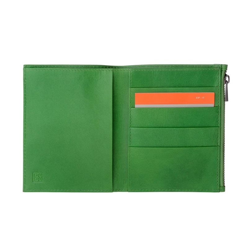 fdc5f20e30c32 SUPER cienki skórzany portfel męski DuDu® Zip-It, 597-665 zielony
