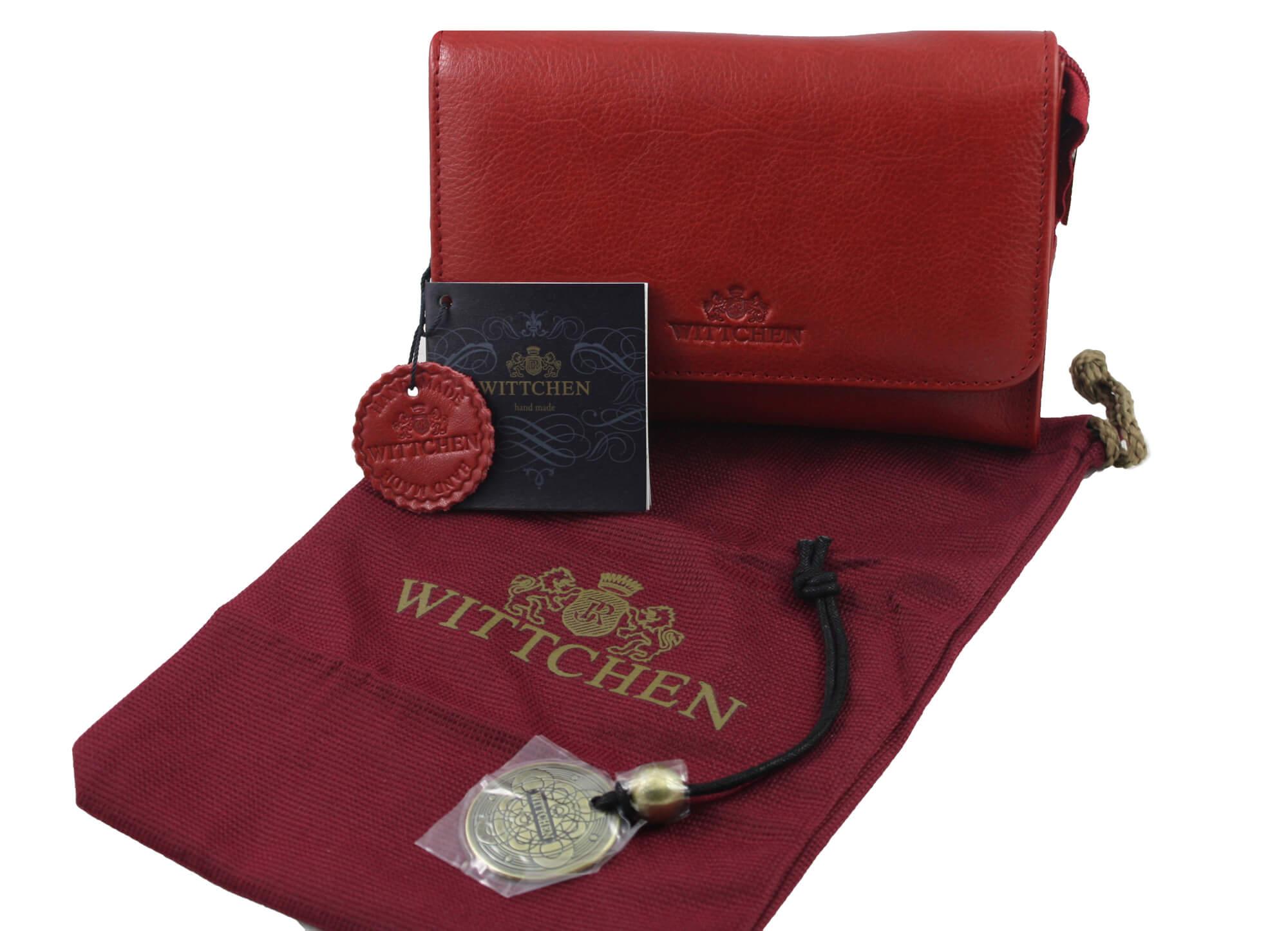 09dbd1461a070 Skórzana kosmetyczka damska z lusterkiem Wittchen w kolorze czerwonym