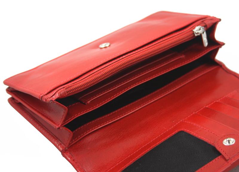 6db2069639e78 Portfel damski Samsonite RFID, skórzany w kolorze czerwonym
