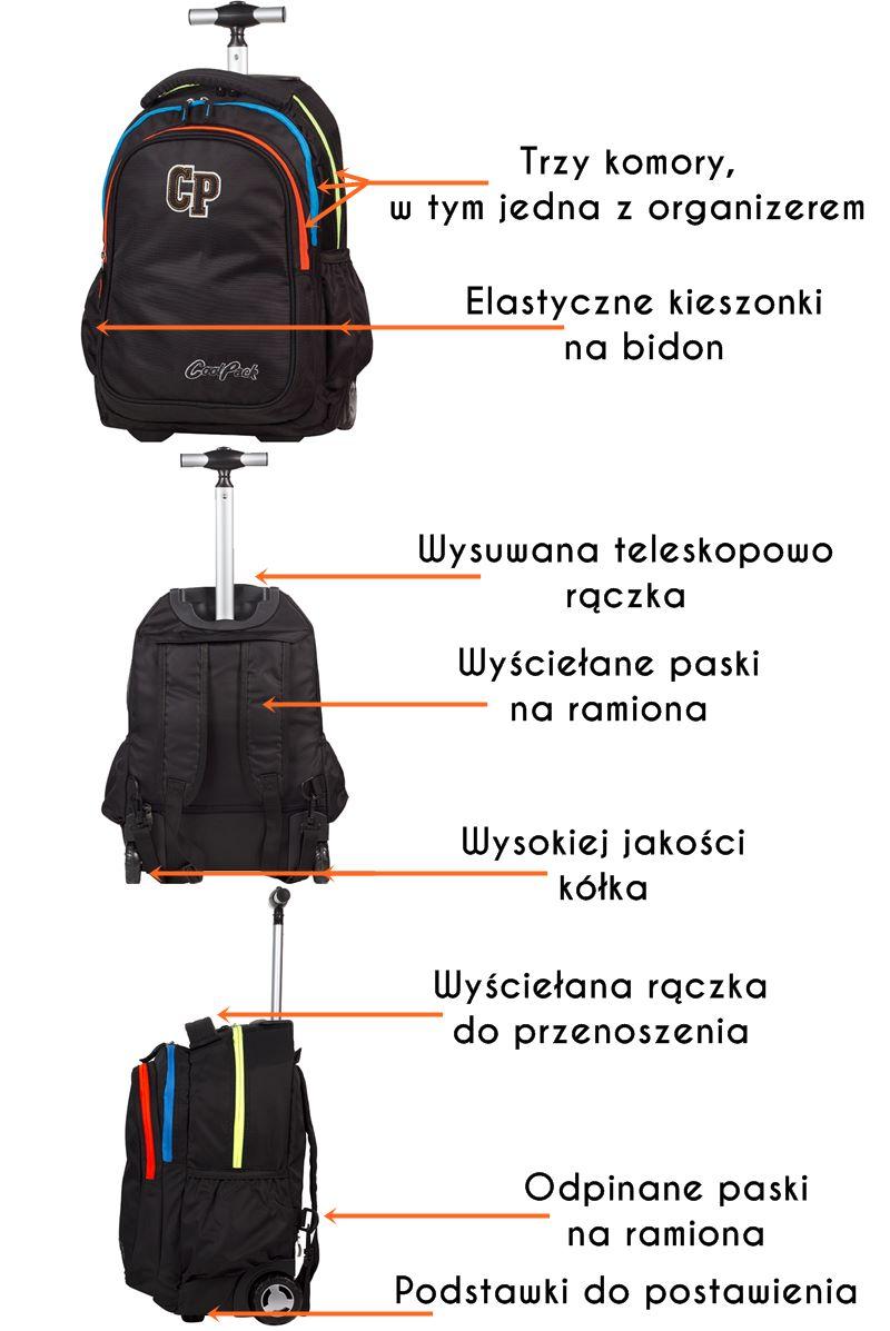21fca881a6cf Plecak szkolny na kółkach CoolPack Junior 34 L 782