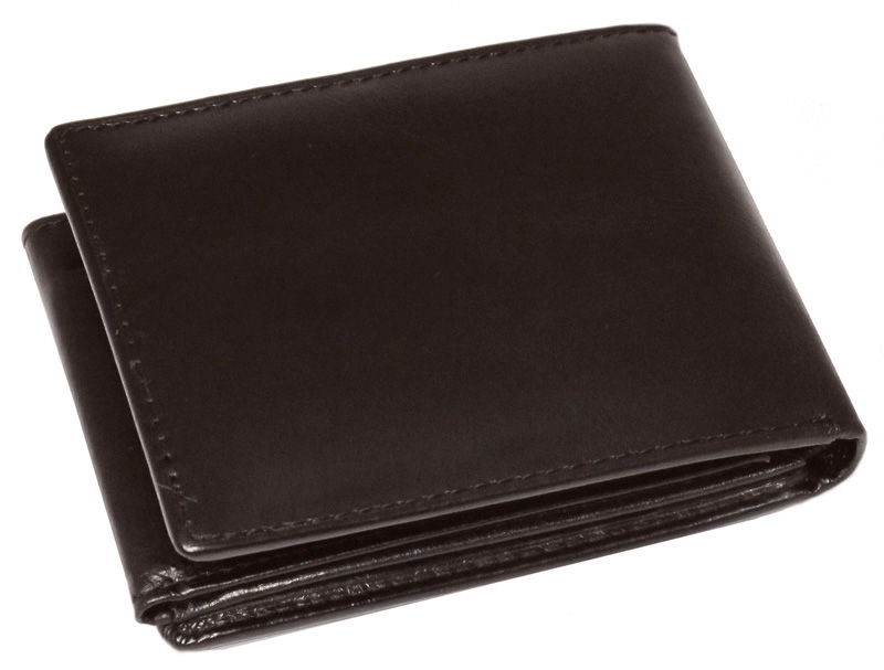43d638b874afb Mały, skórzany portfel Nicolas z klipsem (w środku), brązowy