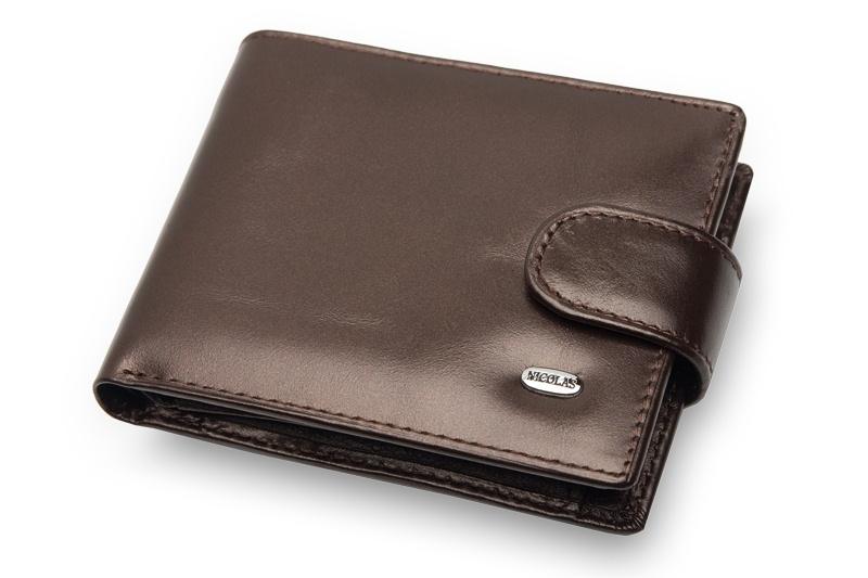 d7583487c4d3e Mały, skórzany portfel Nicolas z praktycznym zapięciem