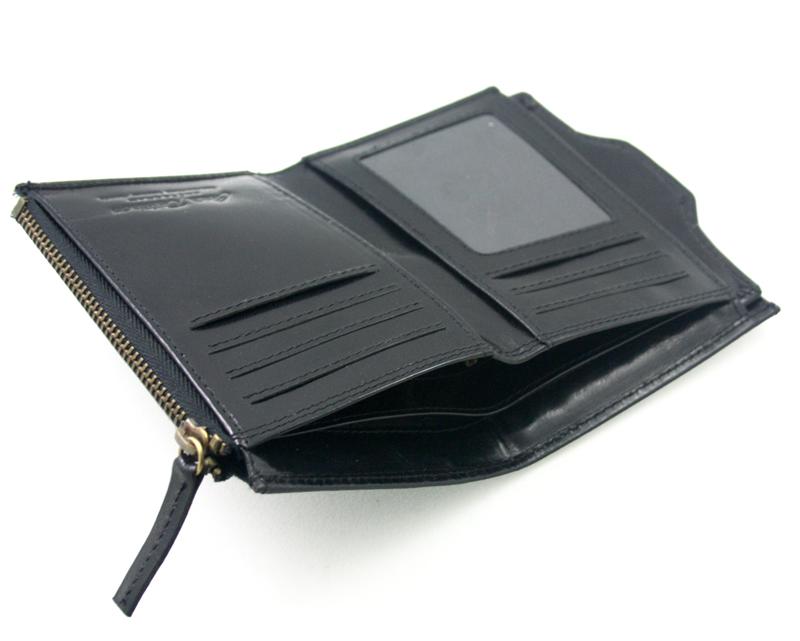 42ca948fed6e1 Cienki skórzany czarny portfel męski z wkładką