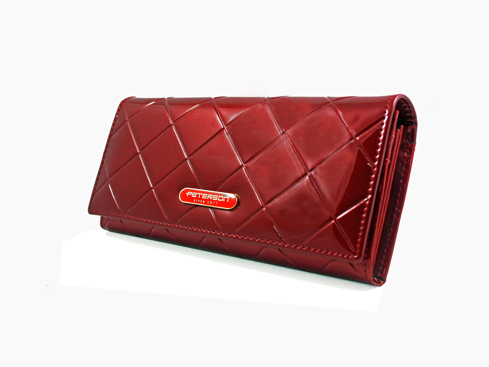 213cf996fd4ca Duży czerwony portfel damski