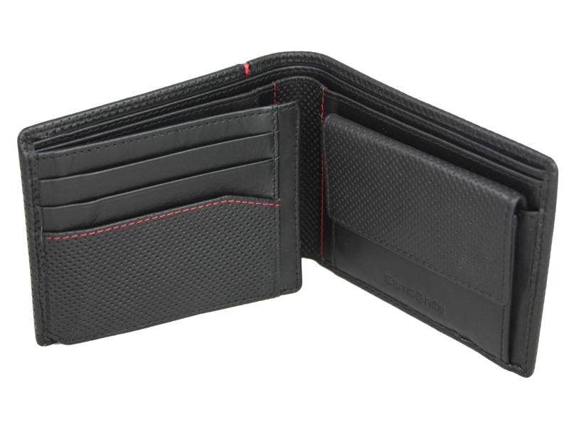 b5964dc0c1f70 Poziomy skórzany portfel męski Samsonite RFID, czarny