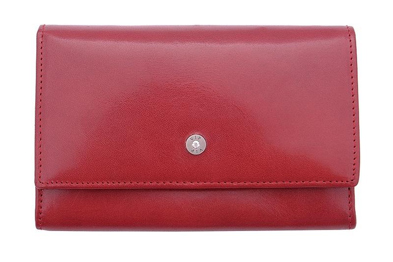 5c611463364ac Klasyczna portmonetka VIP Collection  Diamond czerwona
