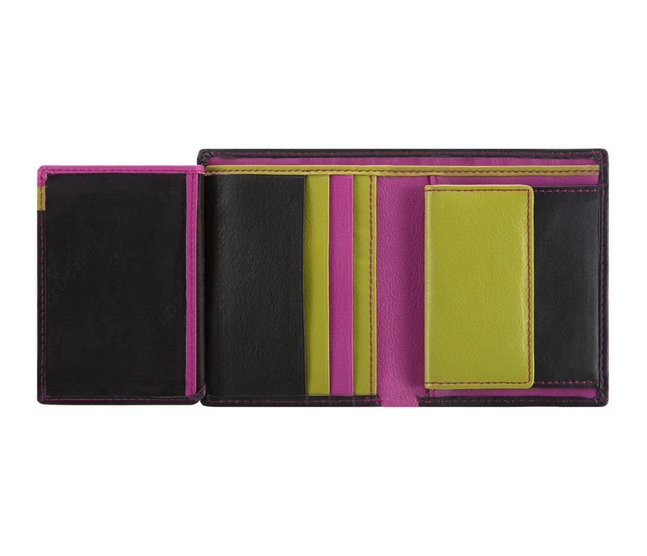a672f846f7a65 Czarny z kolorowym środkiem portfel damski VIP Collection: Multikolor