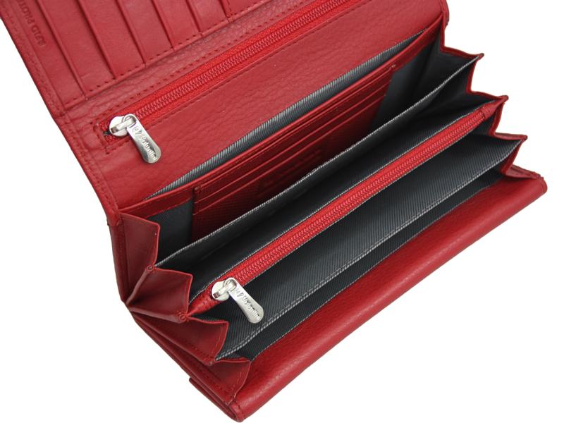 e922acf26ea24 Klasyczny rozbudowany skórzany portfel damski Valentini