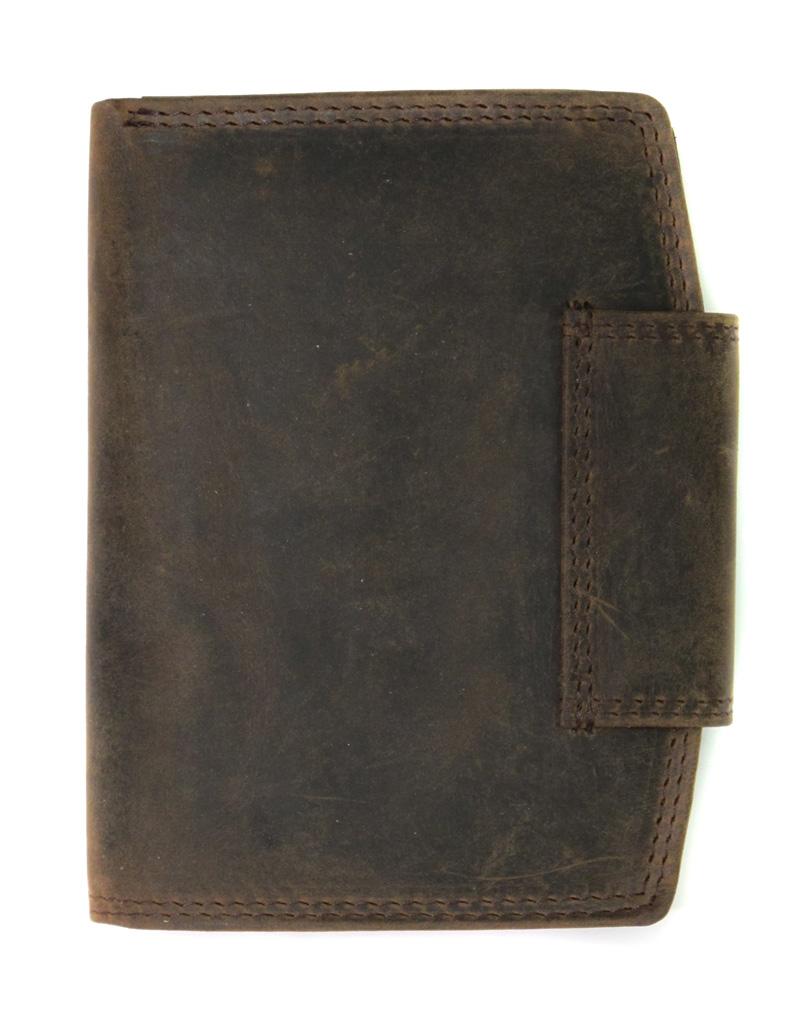 5a2c5d9e0d970 Duży portfel damski Always Wild ze skóry nubukowej z zapięciem - czerwony