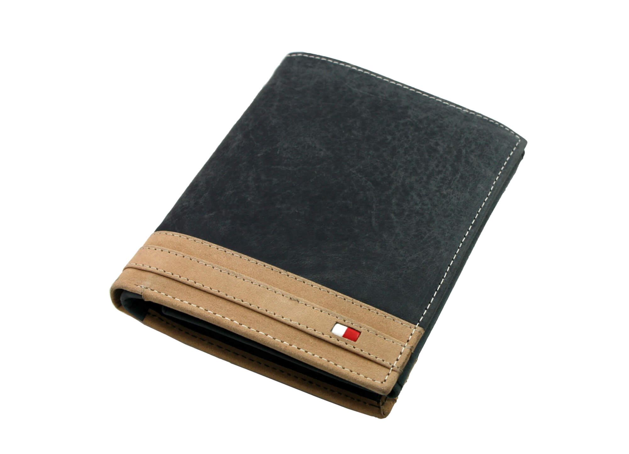 c7166503c296c Pionowy portfel męski Always Wild ze skóry nubukowej - czarny