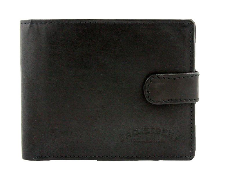 0fcb50e8b7593 Męski super wyposażony portfel skórzany Bag Street czarny
