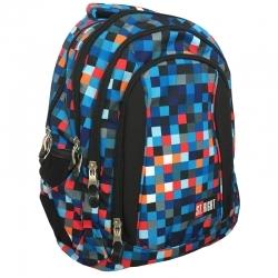8d1513a0df2fe Trzykomorowy plecak szkolny St.Right 29 L, Pixelmania Blue BP4