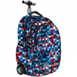 c10c934fcd336 Trzykomorowy plecak szkolny na kółkach St.Right 34 L
