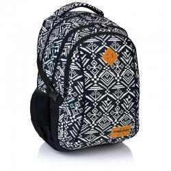 f5775c91676f8 Plecak szkolny młodzieżowy Astra Head HD-74, czarny w aztecki wzór