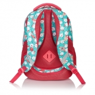 812a6ee6ad9b9 Plecak szkolny młodzieżowy Astra Head HD-83, miętowo-różowy we flamingi