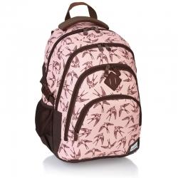 f66e9e14af2d8 Plecak szkolny młodzieżowy Astra Head HD-94, różowy w jaskółki