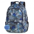Plecak szkolny CoolPack Spiner 27L, Blue Hibiscus A078