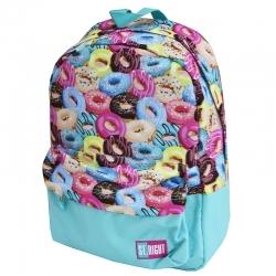 3c1e380b184e7 Lekki jednokomorowy plecak szkolny St.Right 16 L, Donuts BP33