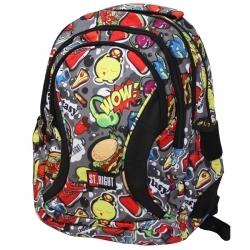 9bb73a54c08dd Trzykomorowy plecak szkolny St.Right 29 L, Fast Food BP2