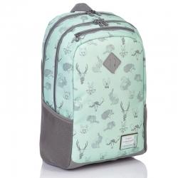 ffe32902d61e4 Plecak szkolny młodzieżowy Astra Head HD-31, miętowy w zwierzęta