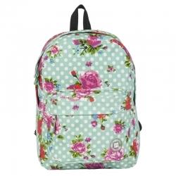 1a1544989c2a4 Lekki plecak szkolny Paso w kwiaty