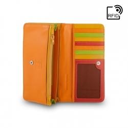 b652076cd8042 Skórzany portfel damski saszetka DuDu® RFID